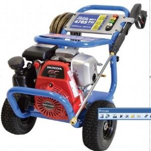 blue lawnmower