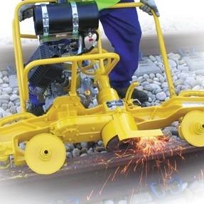 yellow diesel lawnmower